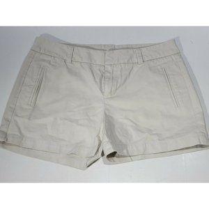 STYLUS Khaki Mid Rise Flat Front Womens Shorts